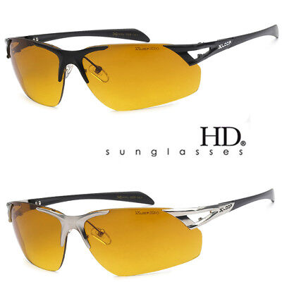 SPORT WRAP HD NIGHT DRIVING VISION SUNGLASSES YELLOW HIGH DEFINITION GLASSES - Mets Sunglasses