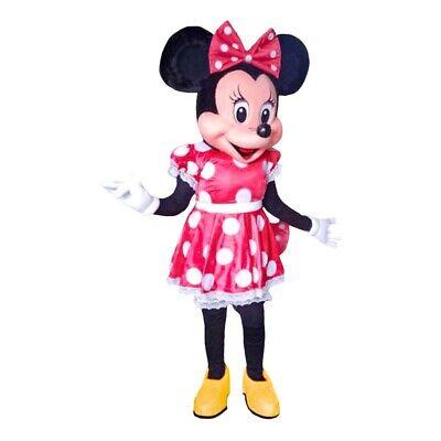 Minnie Maus Rotes Kleid Maskottchen Kostüm Party Charakter Kinder Geburtstag (Minnie Maus Geburtstag Kleid)