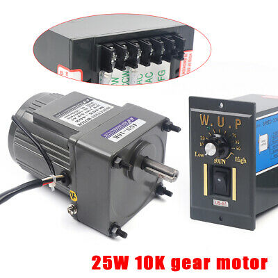 25w Ac110v Gear Motor Electric Motor Variable Speed Controller 110 135rpm Usa