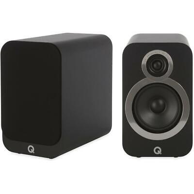 Q Acoustics 3020i Regal-Lautsprecher Schwarz Loudspeaker Carbon Black Boxen PAAR
