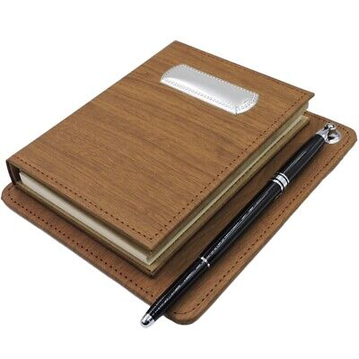 Office Supply Desk Set Brown Eco-leather Cover Address Book Notepad And Pen