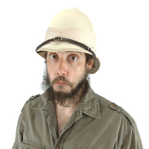SAFARI Expedition British PITH Helmet Jungle Explorer hat hunter MEN WOMEN ADULT