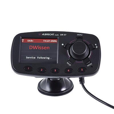 DAB+ Autoradio-Adapter Albrecht DR-57 inkl. Freisprechfunktion, Saugnapf, Kugelg