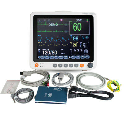 Portable Vital Sign Patient Monitor Nibp Spo2 Ecg Temp Resp Pr Touch Screengift