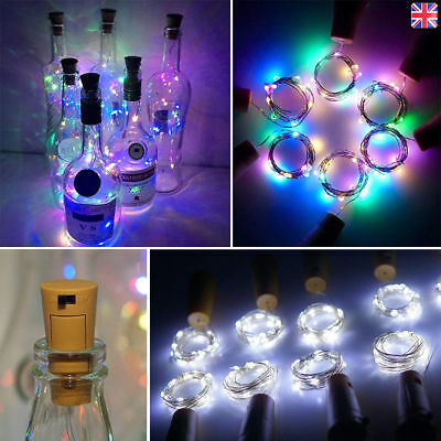10x 20 LED Wine Bottle Lights Copper Wire for Christmas Halloween Table Decor SY