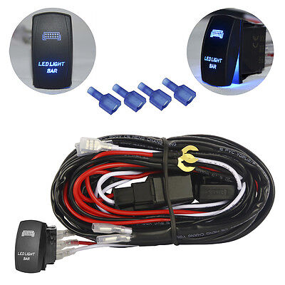 universal wiring harness relay with 5pin blue led light. Black Bedroom Furniture Sets. Home Design Ideas