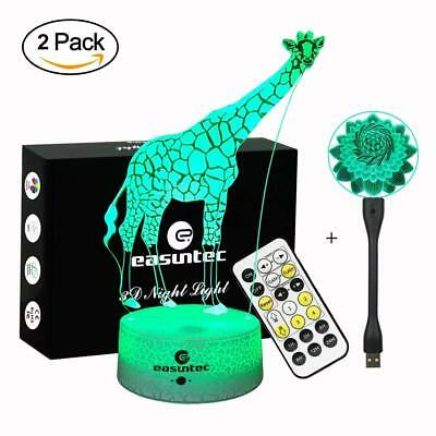 Easuntec Night Lights for Kids,Baby Night Light Giraffe + Flexible USB Light