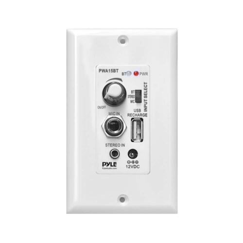 Pyle PWA15BT - In-Wall / Wall Plate Amplifier with Aux Input