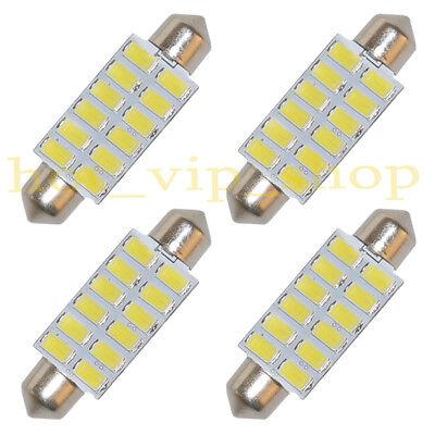 - 4x 42mm LED Festoon Bulbs 12-5730-SMD Dome Car Interior Light Lamp White AC 12V