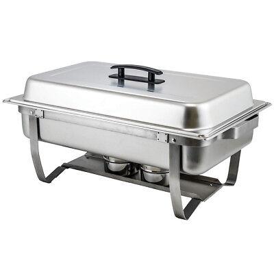 - Winco C-4080 Full Size Rectangular 8 Quart Folding Stand Chafer Dish
