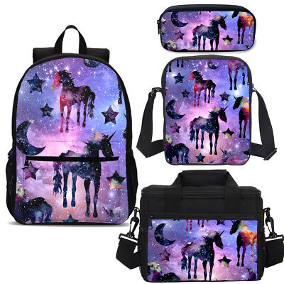 Cool Galaxy Starry Unicorn Backpack Lunchbox Cross Body Pencil Case Wholesale - Character Backpacks Wholesale