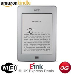 AMAZON KINDLE TOUCH 4GB, WI-FI + FREE 3G UNLOCKED EREADER EBOOK 6