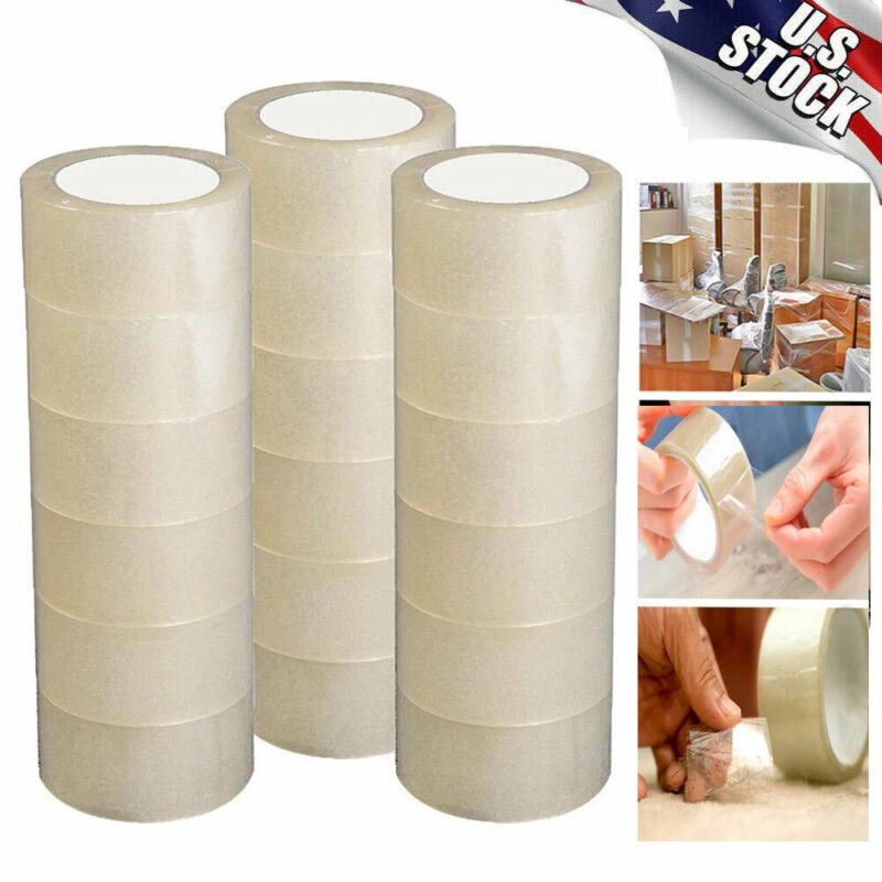 12/18 Rolls Carton Sealing Clear Packing Tape Box Shipping  3 Model 110  Yards