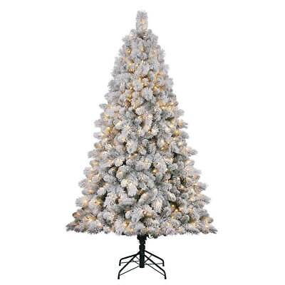 Home Heritage Cascade 7' Pine White Artificial Prelit Christmas Tree (For Parts)