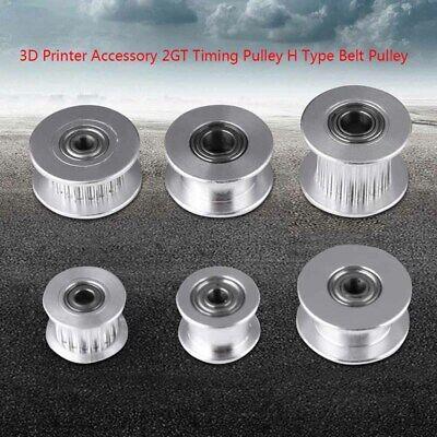 3d Printer Aluminum Gt2 Bore Idler Pulley Ball Bearing For 3456mm Timing Belt