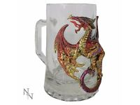 Dragon's Brew Glass Mug 15cm - Brand New Still in Box - Nemesis Now