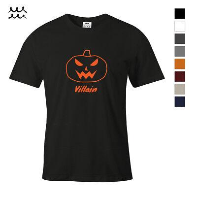 Funny Halloween Pumpkin Designs (PUMPKIN VILLAIN FUNNY HALLOWEEN PRINT T SHIRT FUN GRAPHIC SHIRTS DESIGN TEE)