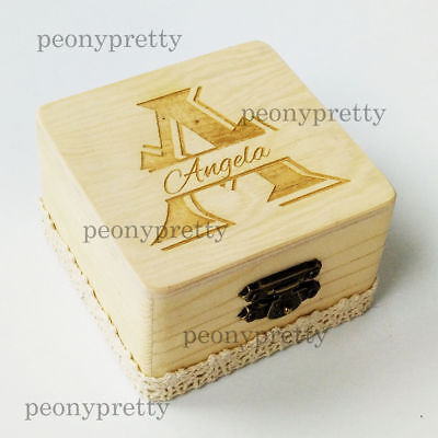 Personalized Wooden Wedding Jewelry Gift Box Custom Bridesmaid Box Maid of Honor