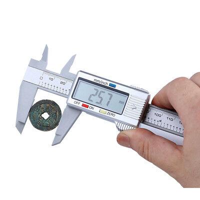 (150mm/6inch LCD Digital Electronic Carbon Fiber Vernier Caliper Gauge Micrometer)