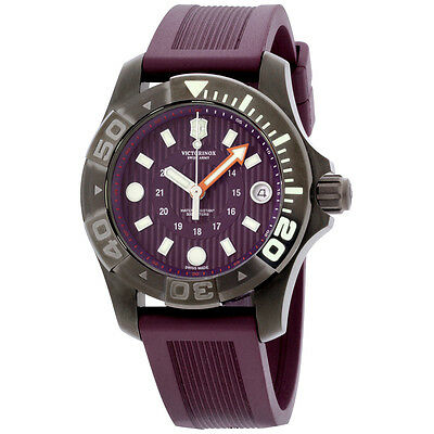Victorinox Swiss Army Dive Master Purple Dial Silicone Strap Men'S Watch 241558