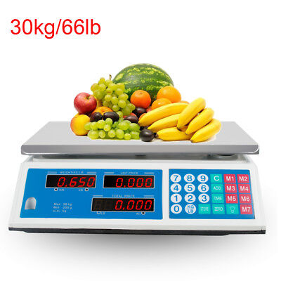 Digital Weight Scale 66lb Price Computing Food Meat Scale Produce Deli From Usa