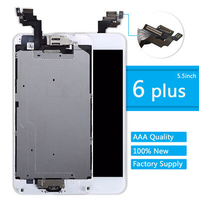 """For iPhone 6 Addition 5.5"""" LCD Touch Screen Display Replacement +Home Button +Camera"""