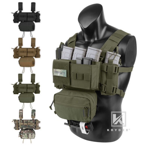 KRYDEX MK3 Micro Fight Chassis Chest Rig Modular Tactical Carrier with Mag Pouch