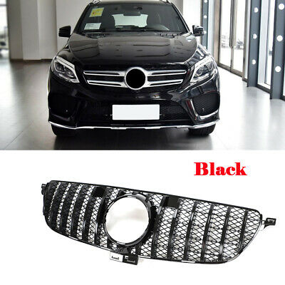 für Mercedes W166 GLE350 GLE400 SUV 2015-2018 Black Grill Kühlergrill Frontgrill