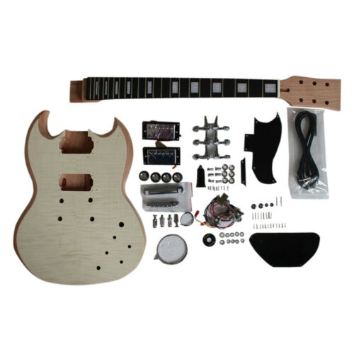 Coban Guitars DIY Kit Flamed Maple Veneer with NON-Soldering Chrome fit SG590
