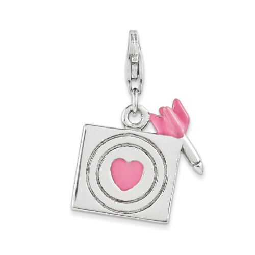 Enameled Bullseye Charm .925 Sterling Silver Click On Amore La Vita