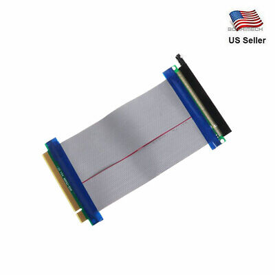 PCI-E 16X to 16X Riser Card Adapter Converter Extension Ribbon Cable