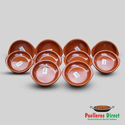 Set of 10 x 14cm Spanish Terracotta Tapas Dishes / Cazuelas