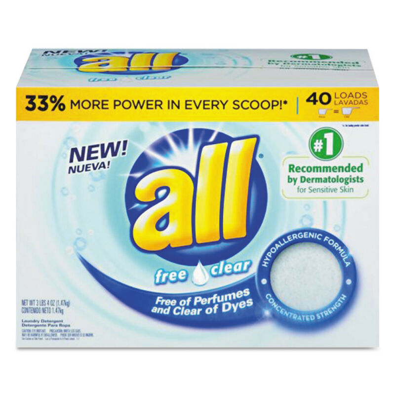 Diversey CB456816 All-Purpose Clear Hypoallergenic Laundry Detergent Powder New