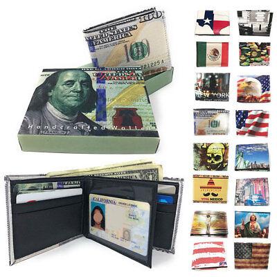 Bedruckt Designs Geldbörse Portemonnaie in Geschenkbox Cash Karte Id Fächer Mens