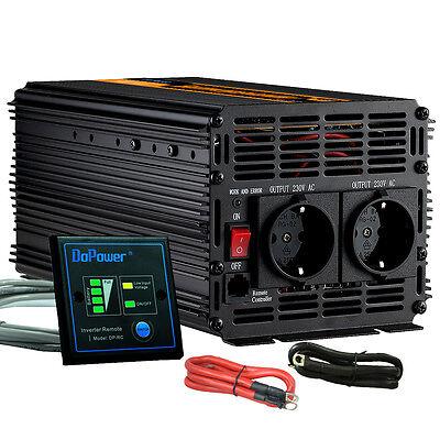 2000W Spannungswandler 12V auf 230V 4000 Watt Wechselrichter Inverter KFZ