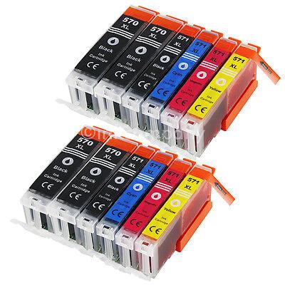 Tinte Patrone für Canon Pixma PGI570 CLI571 TS5050 TS5055 TS6050 MG5750 12x XXL