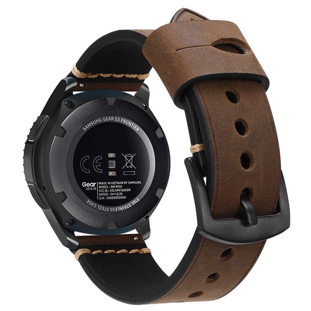 Für Samsung Gear S3 Frontier / Classic Armband Echtes Leder UhrBand Uhrenarmband