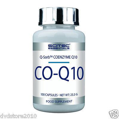 VITAMINA integratore SCITEC CO-Q10 Q-Sorb Coenzima 10 mg 100 capsule