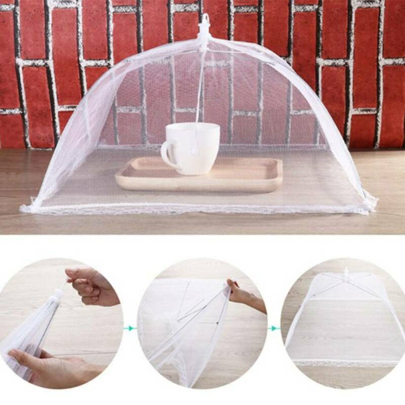 Strong SALE 1 pc  Folding Food Cover Protector Net Umbrella Anti Fly Mosquito