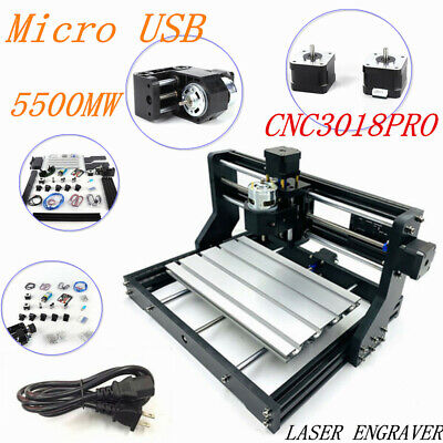 3 Axis Wood Pcb Engraving Diy Pro Cnc 3018 Machine Router W 5500mw Laser Head