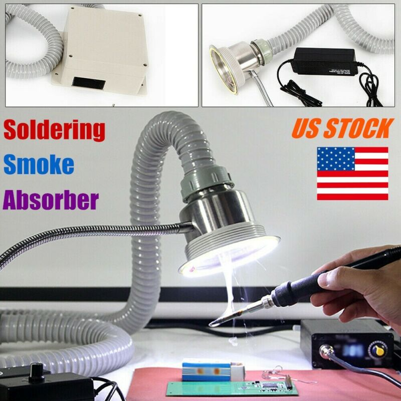Soldering Smoke Absorber Remover Fume Extractor Air 2 In 1 Fan Strong Suction