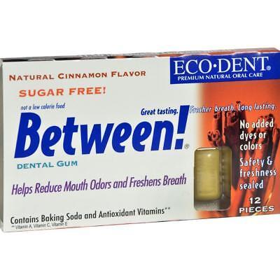 Cinnamon Dental Gum - Eco-Dent-Between Cinnamon Dental Gum (12-2 oz boxes)