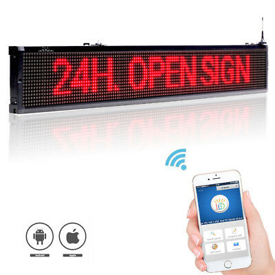 40 X 6.3 Red Led Sign Programmable Scrolling Window Message Display Indoor
