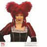 Red Baroque Wig Christmas Vampire Pantomime Ugly Sisters Dame Tudor Queen