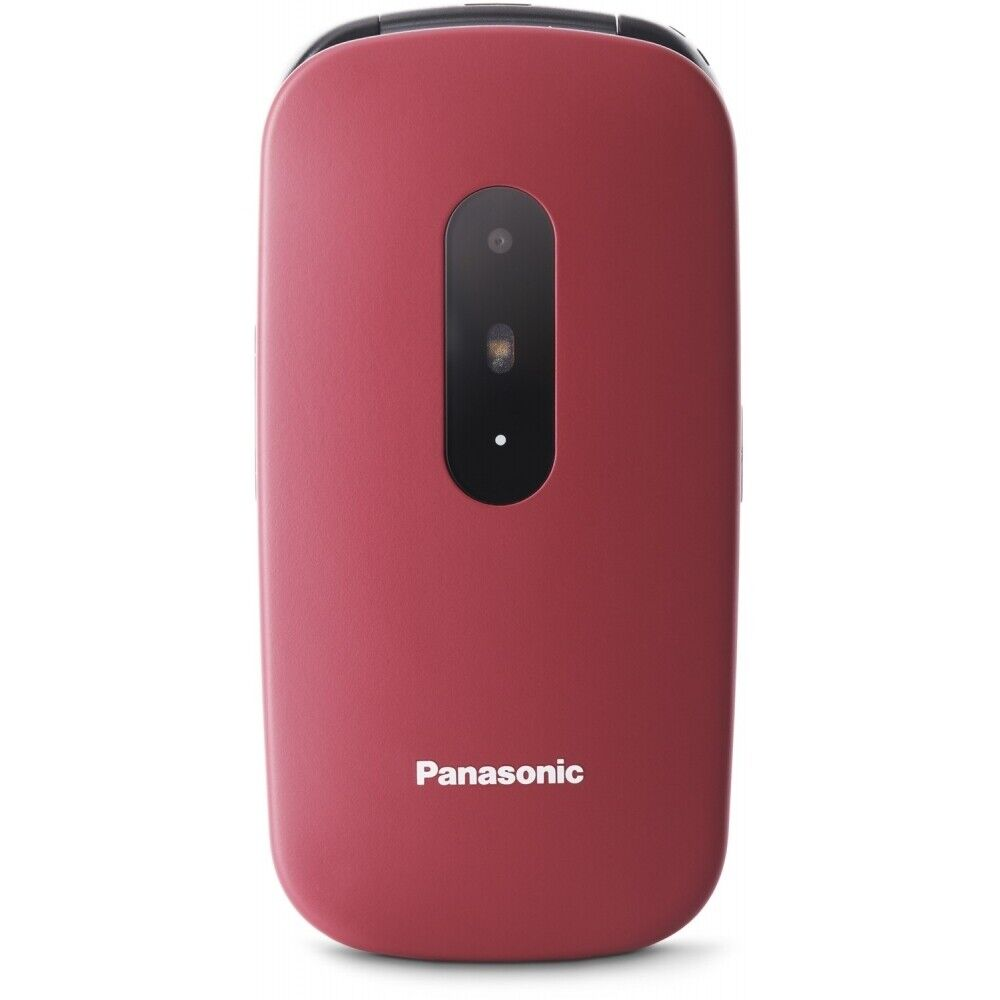Panasonic KX-TU446 Klapphandy 32 GB 2,4 Zoll Bluetooth USB Seniorenhandy rot