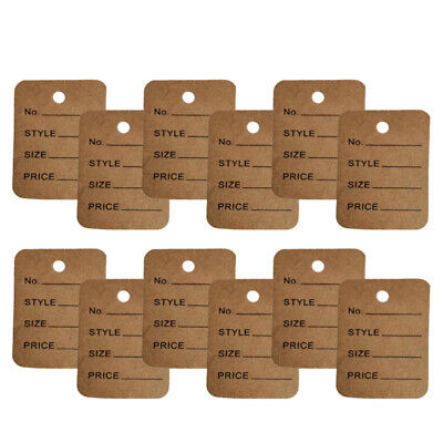 1000pcs Jewelry Commodity Clothing Price Tags Hanging Tags Certificate Labels