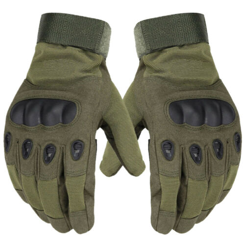 Size Medium Tactical Paintball Gloves with Knuckle Protection (Foliage Green)