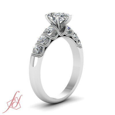 1 Carat Platinum Diamond Engagement Rings For Women With Pear Shaped In Center 2