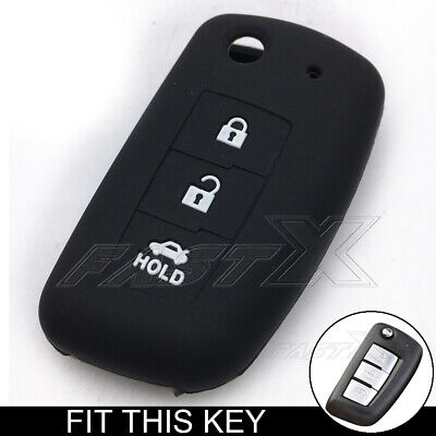 Black Silicone Cover Flip Key Case Shell For Nissan Rogue Sylphy Pulsar Sentra