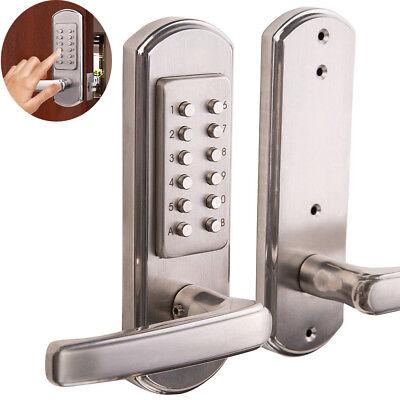 Full Size Combination Mechanical Keyless Door Lock Code Keypad Entry No Deadbolt